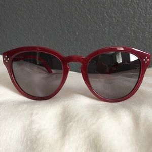 New Chloe Bordeaux Red round sunglasses